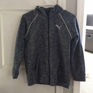 new puma zip up jacket size 12/14 girls and boys